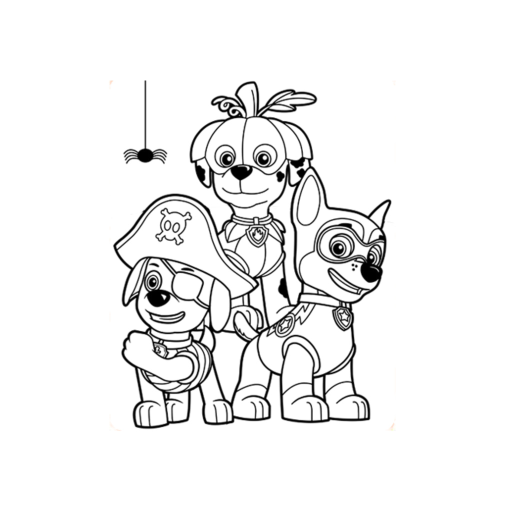 PAW Patrol Halloween Colouring
