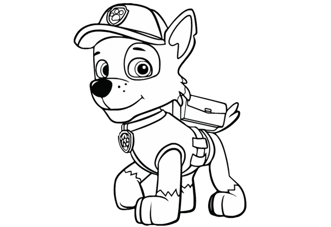 PAW Patrol|PAW Patrol - Rocky: Colouring Pages for Preschoolers