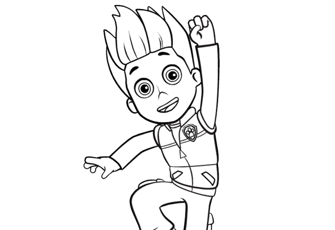 Paw Patrol Paw Patrol Ryder Colouring Pages For Preschoolers