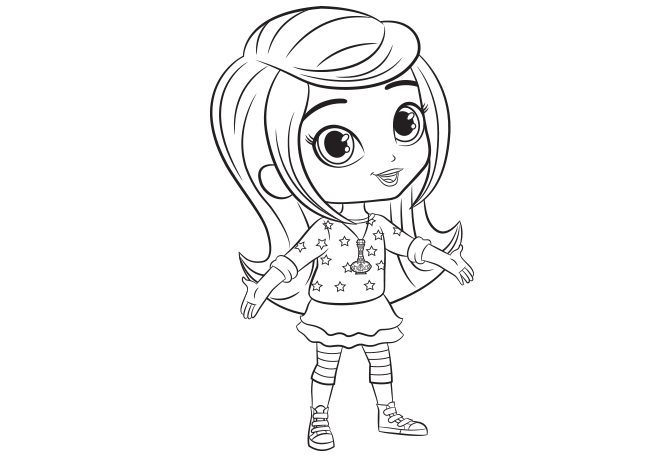Shimmer and Shine Leah Colouring Page